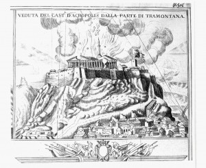 The explosion of the Parthenon, 1687