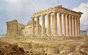Parthenon after the explosion of 1687