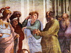 Rafael, School of Athens, Detail: Socrates and pupils
