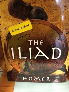 Iliad with 'autographed' sticker