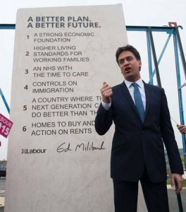 Ed Miliband and his inscription