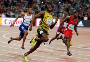 Usain Bolt, putting his island state on the map in 2015 (200m race).